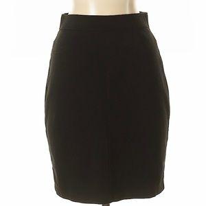 Casual black pencil skirt